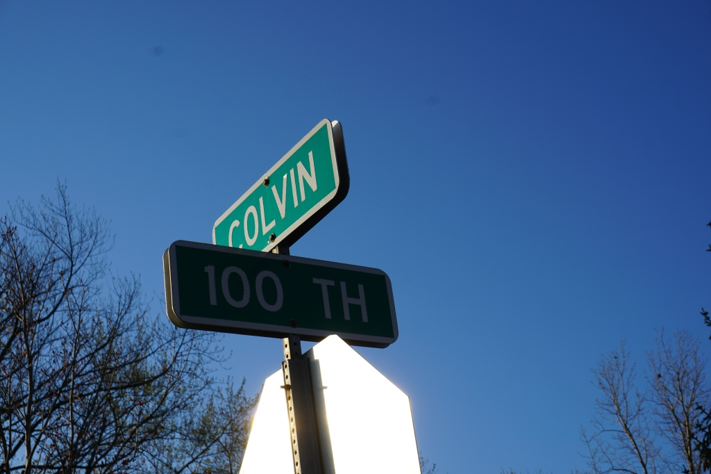 Intersection of 100th & Colvin.